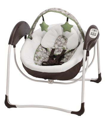 photo of Graco Glider Lite™ LX Gliding Swing - Green/Brown/Gray by Newell Brands – Baby & Writing
