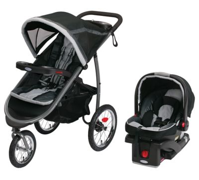 photo of Graco FastAction™ Fold Jogger Click Connect™ Travel System - Black/Gray by Newell Brands – Baby & Writing