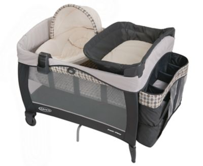 photo of Graco Pack 'n Play® Newborn Seat Elite Playard - Gray/Charcoal/Cream by Newell Brands – Baby & Writing
