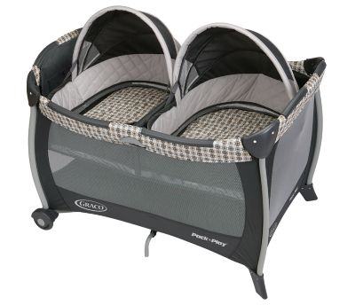photo of Graco Pack 'n Play® Twin Bassinet Playard - Gray/Charcoal/Cream by Newell Brands – Baby & Writing