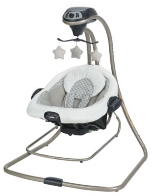 photo of Graco DuetConnect® LX Swing + Bouncer - Gray/White/Black by Newell Brands – Baby & Writing