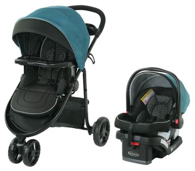 photo of Graco Modes™ 3 Lite DLX Travel System - Teal/Black by Newell Brands – Baby & Writing