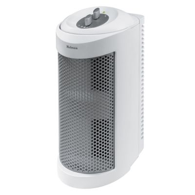 Holmes® True HEPA Allergen Remover Mini Tower Air Purifier with Optional Ionizer for Small Spaces, White (HAP706-NU-1)