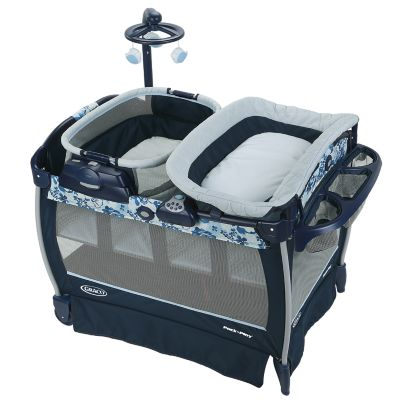 photo of Graco Pack 'n Play® Nearby Seat Playard - Teal/Gray by Newell Brands – Baby & Writing
