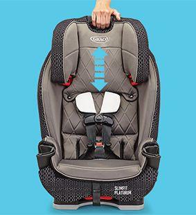 صندلی ماشین گراکو مدل SlimFit LX Black