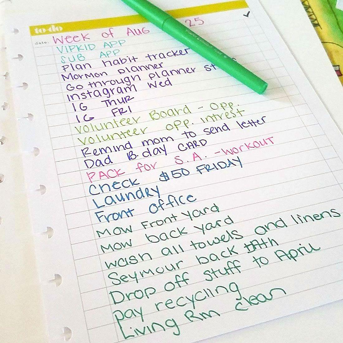 Chore Calendar Paper Mate