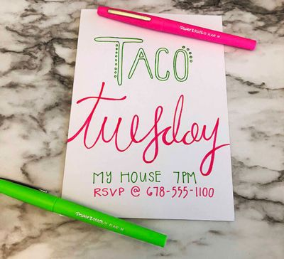 handwritten-invitation-for-taco-tuesday-papermate-flair-pens.jpg