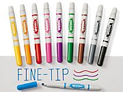 Best-Buy Washable Fine-Tip Markers - Student Pack