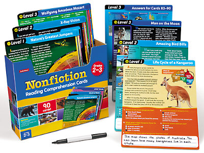 nonfiction reading comprehension practice cards gr 2 3 at