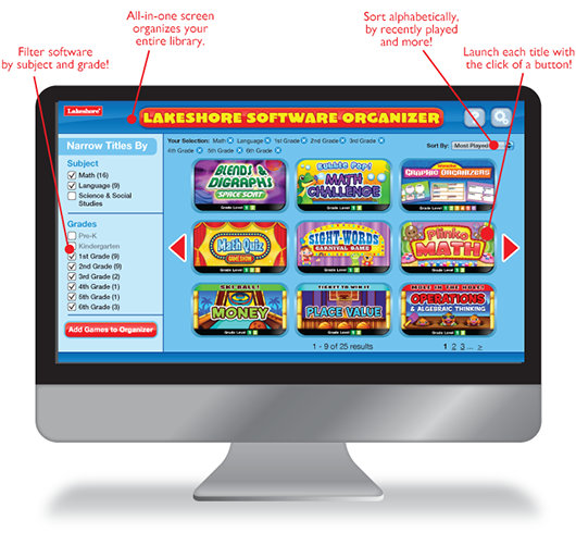 Software Organizer | Lakeshore® Learning Materials