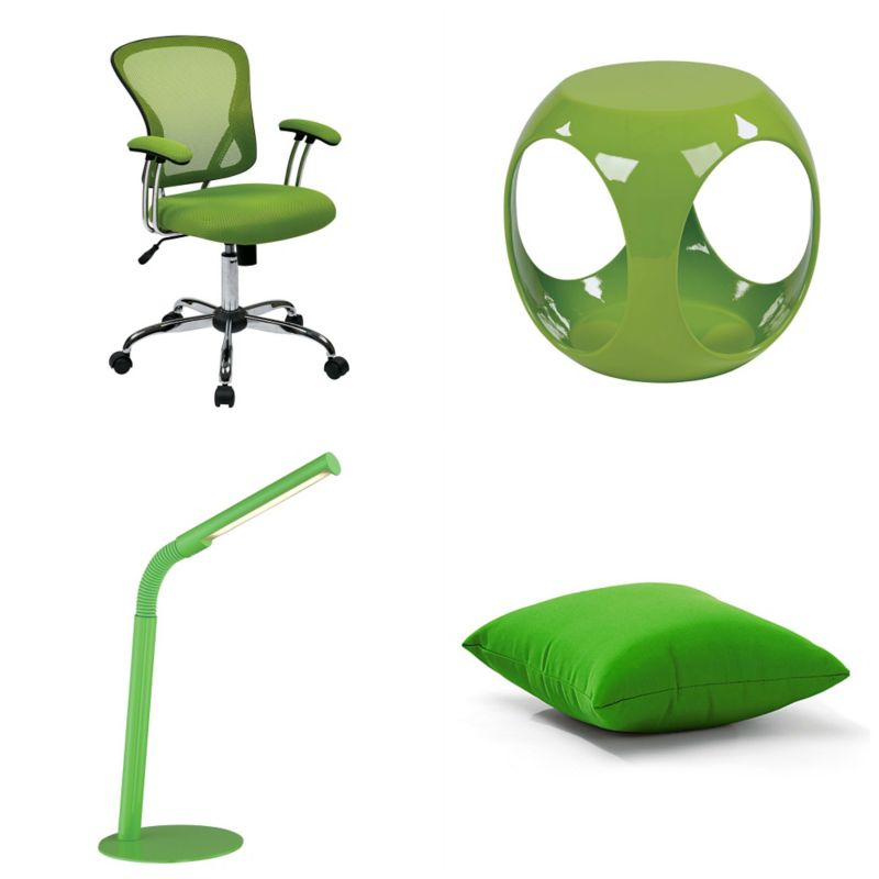 Decorating with Color Green  OfficeFurniturecom