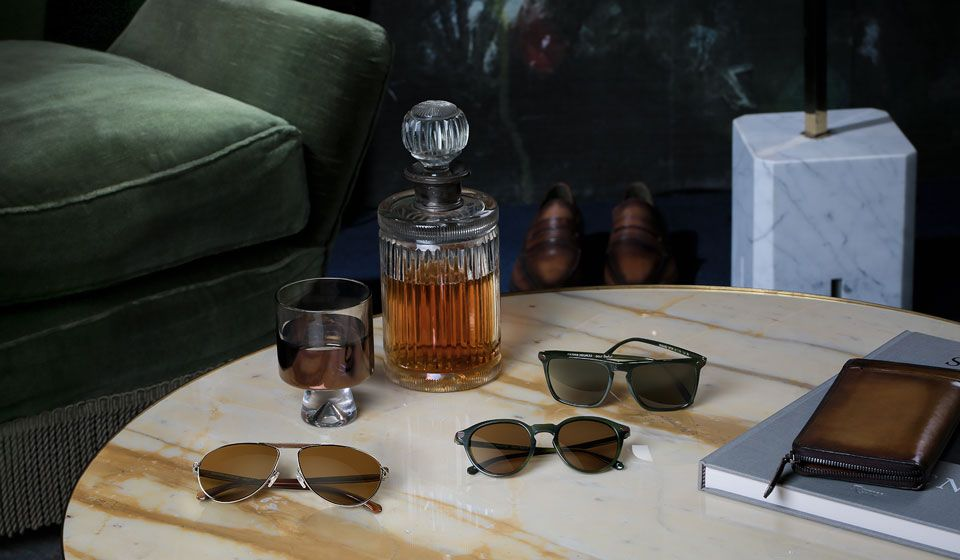 5b52b747fd564 Luxury Leather brand Berluti and Oliver Peoples have collaborated to create  a capsule collection of exclusive eyewear. The collection of men s  sunglasses ...