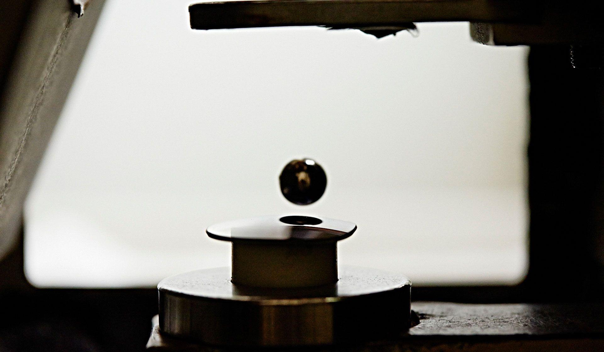 glass lens drop ball test