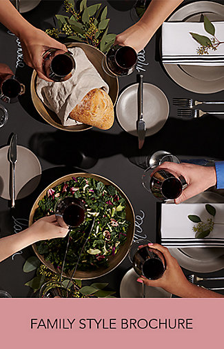 Brochure: ideas and inspiration for family-style dinners and events