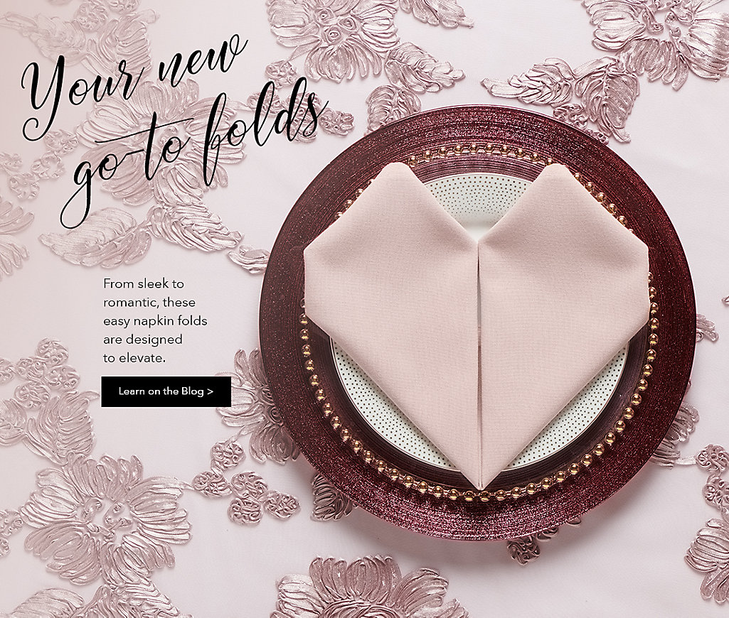 How to fold napkins in unique designs for events and weddings