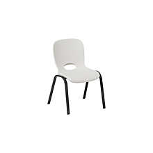 Check out the Children School Chair Plastic White for rent