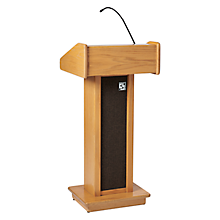 Check out the Podium Birch with Microphone for rent