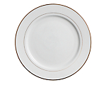 White Rim Gold Border Chop Plate
