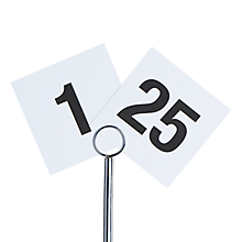 Check out the Printed Table Numbers 1 - 25 for rent