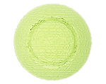 Lime Green Pebble Glass Charger 13""