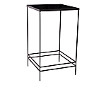 Wrought Iron Cocktail Table Top Black Lucite (Top Only)