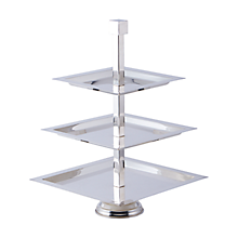 Check out the Silver 3 Tiered Deco Stand for rent