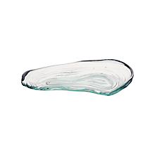 "Check out the Glass Ocean Oyster Plate 8"" x 5"" for rent"