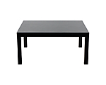 "Parsons Table Square 66"" Black Patent Leather"