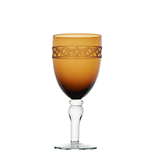 Check out the Cypress Amber Goblet 15.5 oz. for rent