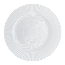 "Check out the Valencia White Glass Charger 13.25"" for rent"