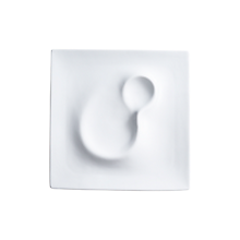 "Check out the Dune Ceramic Square Plate 10.75"" for rent"