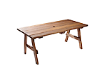 "Picnic Table 6'x36"" Oak (Benches Not Included)"