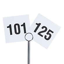 Check out the Printed Table Numbers 101 - 125 for rent