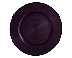 "Plum Circle Glass Charger / Tray 13"" (Limited)"