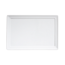 """Check out the Elite White Rectangle Charger 11.75"""" x 8"""" for rent"""