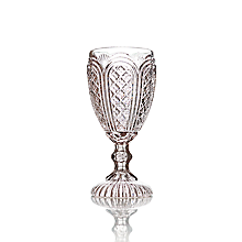 Check out the Essex Pink Tinted Goblet 11 oz. for rent