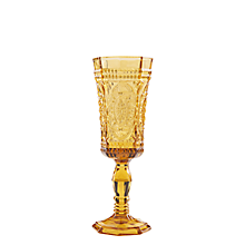 Check out the Roma Amber Flute Glass 4 oz. (Limited Quantities Available) for rent