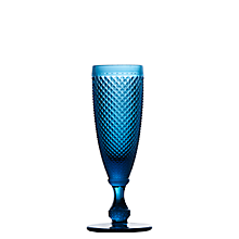 Check out the Regency Sapphire Tinted Flute Glass 4 oz. for rent