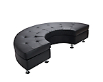 Metro Black Tufted Curved Bench