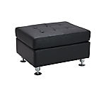 Metro Black Tufted Rectangle Ottoman