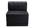 Metro Black Tufted Armless Chair