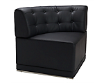 Metro Black Tufted Corner Chair