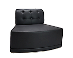 Metro Black Tufted Inverted Corner Chair