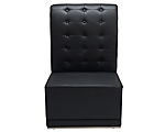 Metro Black Tufted Armless High Back Chair