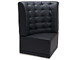 Metro Black Tufted Corner High Back Chair