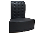 Metro Black Tufted Inverted Corner High Back Chair