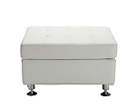 Metro White Tufted Rectangle Ottoman