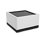 Metro White Coffee Table Square