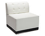 Metro White Tufted Armless Chair