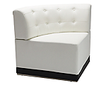 Metro White Tufted Corner Chair